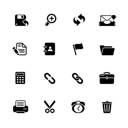 Interface Icons // Black Series - Vector black icons for your web or media projects. Ilustracja