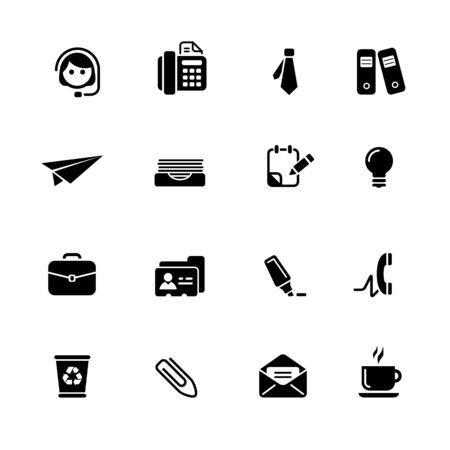 Office & Business // Black Series - Vector black icons for your web or media projects.