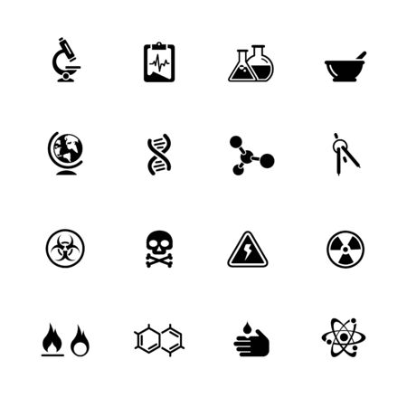 Science Icons // Black Series - Vector black icons for your web or media projects. Иллюстрация