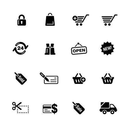 Shopping Web Icons // Black Series - Vector black icons for your web or media projects.