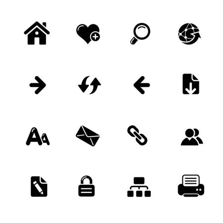 Web Navigation Icons // Azure Series - Vector black icons for your web or media projects.