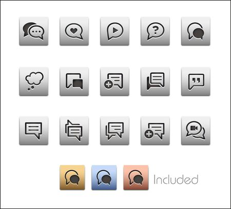 Bubble Icons - The vector file includes 4 color versions for each icon in different layers.