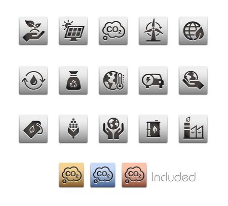 Ecology & Renewable Energy Icons - The vector file includes 4 color versions for each icon in different layers. Ilustrace