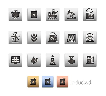 Energy Icons - The vector file includes 4 color versions for each icon in different layers.