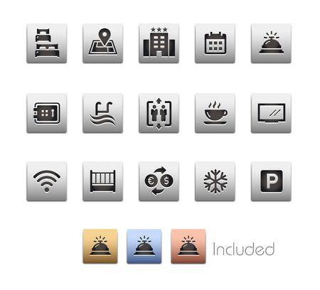 Hotel & Rentals Icons 1 of 2 - The vector file includes 4 color versions for each icon in different layers.