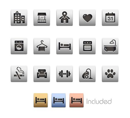 Hotel & Rentals Icons 2 of 2 - The vector file includes 4 color versions for each icon in different layers.
