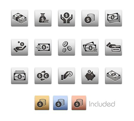 Money Icons - The vector file includes 4 color versions for each icon in different layers.