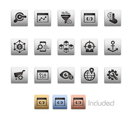 SEO & Digital Marketing Icons 1 of 2 - The vector file includes 4 color versions for each icon in different layers.