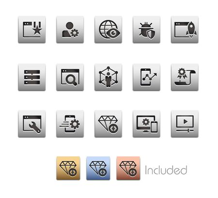 SEO & Digital Marketing Icons 2 of 2 - The vector file includes 4 color versions for each icon in different layers.