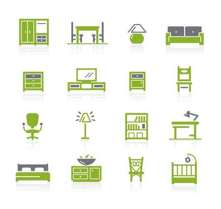 Furniture Icons // Natura Series Ilustrace