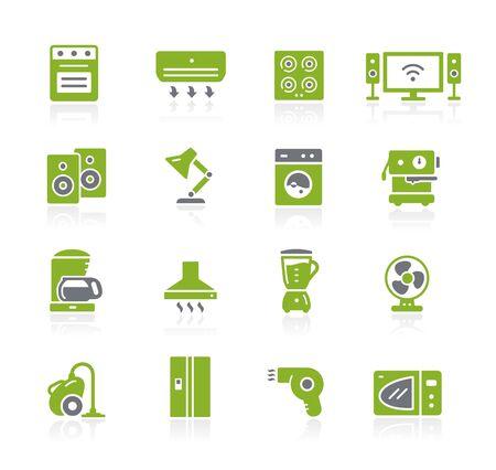 Household Appliances Icons // Natura Series