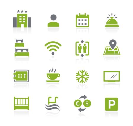 Hotel and Rentals Icons 1 of 2 // Natura Series