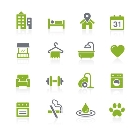 Hotel and Rentals Icons 2 of 2 // Natura Series