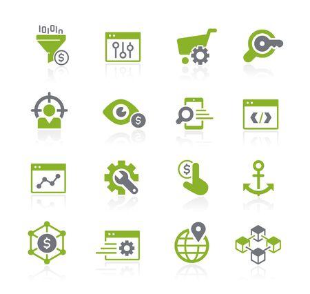 SEO und Digital Marketing Icons 1 von 2 // Natura Series