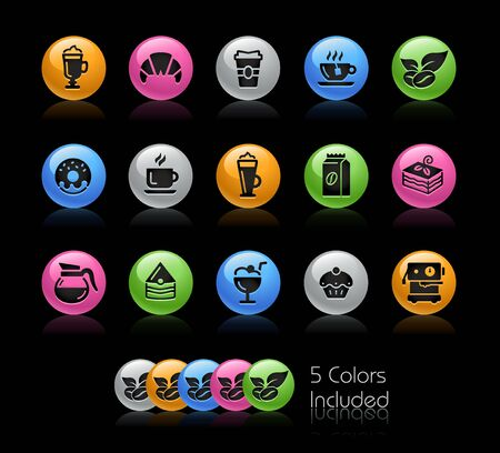 Coffee Shop Icons // The vector file Includes 5 color versions in different layers. Ilustração