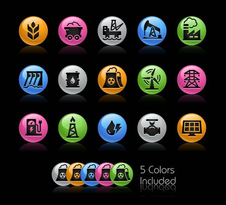 Energy Icons // The vector file Includes 5 color versions in different layers.