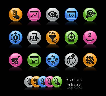 SEO and Digital Martketing Icons 1 of 2 // The vector file Includes 5 color versions in different layers.
