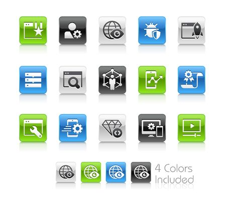 SEO and Digital Marketing Icons 2 of 2 - The vector file includes 4 color versions for each icon in different layers.