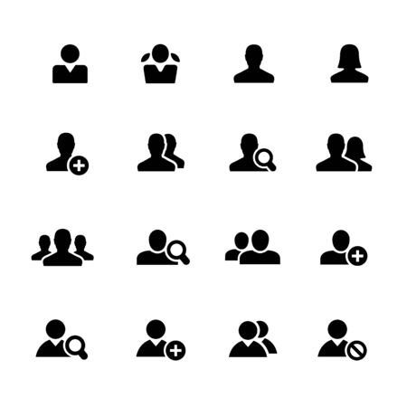 Avatar Icons // Black Series - Vector black icons for your digital, print or media projects. Ilustração