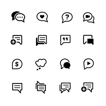 Bubble Icons // Black Series - Vector black icons for your digital, print or media projects.