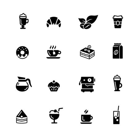 Coffee Shop Icons // Black Series - Vector black icons for your digital, print or media projects. Ilustração