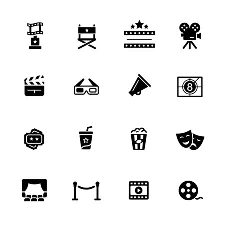 Film Industry and Theater Icons // Black Series - Vector black icons for your digital, print or media projects.