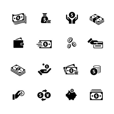 Money Icons // Black Series - Vector black icons for your digital, print or media projects.