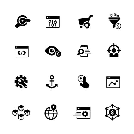 SEO and Digital Martketing Icons 1 of 2 // Black Series - Vector black icons for your digital, print or media projects.