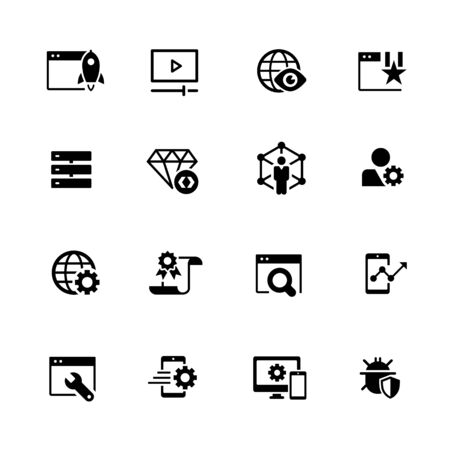 SEO and Digital Martketing Icons 2 of 2 // Black Series - Vector black icons for your digital, print or media projects. 向量圖像
