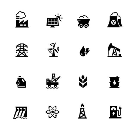 Energy Icons // Black Series - Vector black icons for your digital, print or media projects.