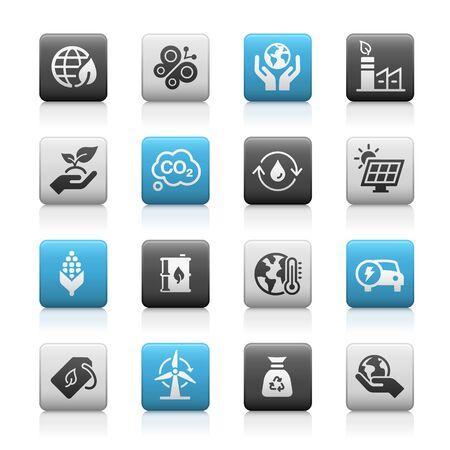 Ecology and Renewable Energy Icons // Matte Series Ilustração