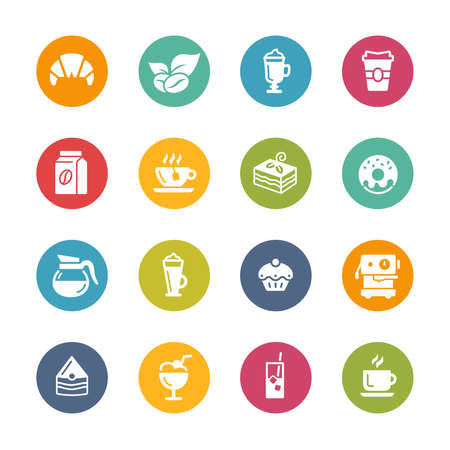 Coffee Shop Icons // Fresh Colors Imagens - 150615467