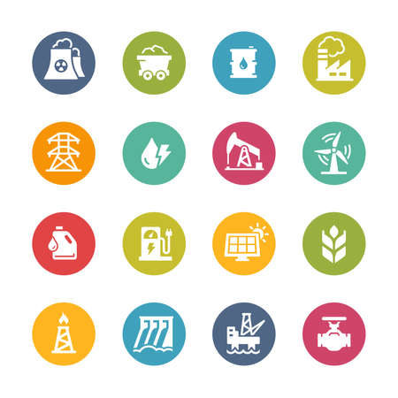 Energy Icons // Fresh Colors Imagens - 150615356