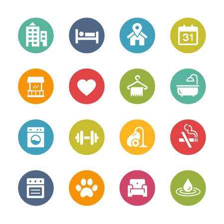 Hotel and Rentals Icons 2 of 2 // Fresh Colors Imagens - 150615363