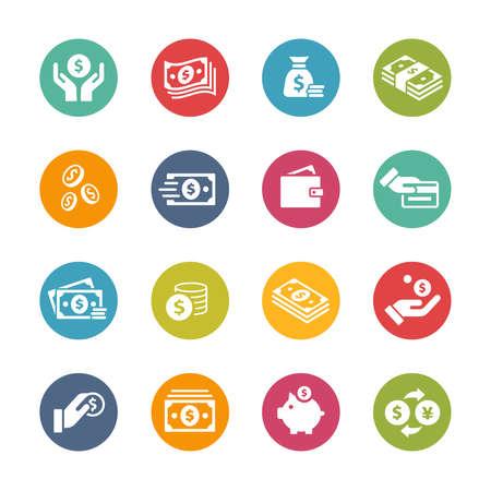 Money Icons // Fresh Colors Ilustración de vector