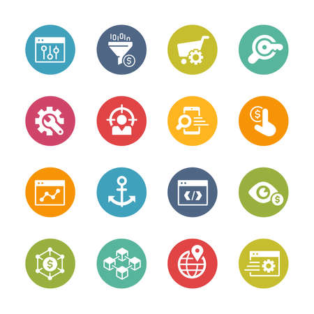 SEO and Digital Martketing Icons 1 of 2 // Fresh Colors
