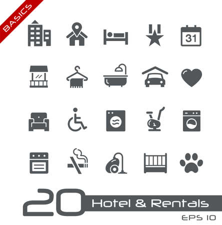 Hotel & Rentals Icons 2 of 2 // Basics