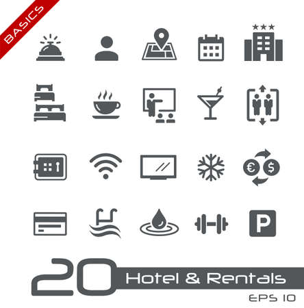 Hotel & Rentals Icons 1 of 2 // Basics