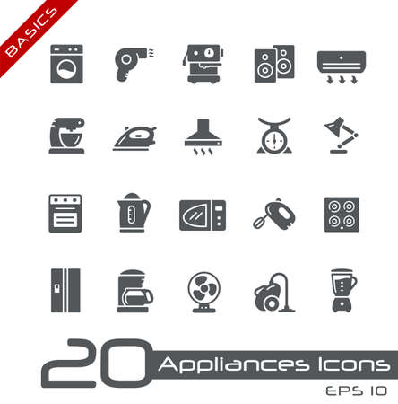 Household Appliances Icons // Basics Imagens - 151065459