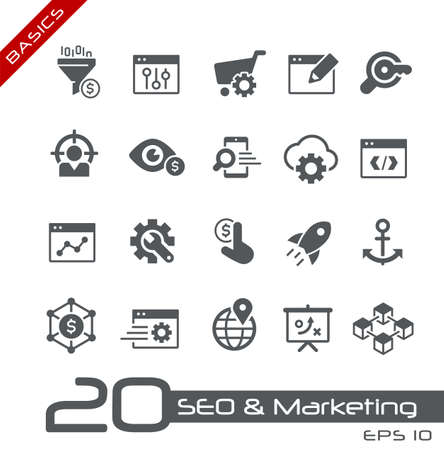 SEO & Digital Martketing Icons 1 of 2 // Basics
