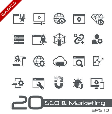 SEO & Digital Martketing Icons 2 of 2 // Basics