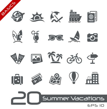 Summer Vacations Icons // Basics