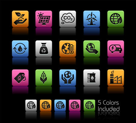 Ecology and Renewable Energy Icons ColorBox Series - The Vector file includes 5 color versions for each icon in different layers.