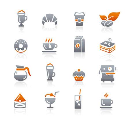 Coffee Shop Icons // Graphite Series Imagens - 152695133