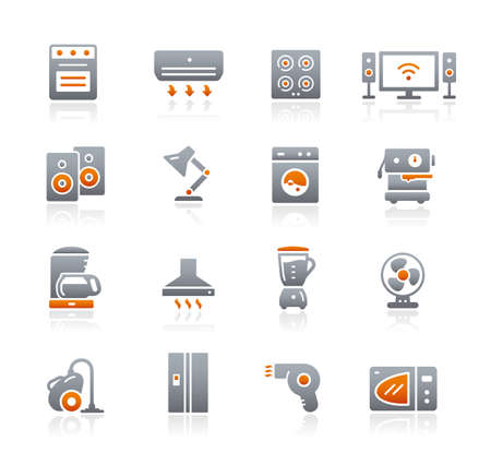 Home Appliances Icons // Graphite Series