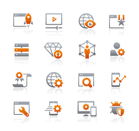 SEO and Digital Marketing Icons 2 of 2 // Graphite Series