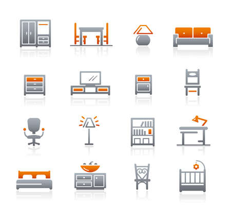 Furniture Icons // Graphite Series Imagens - 152695230