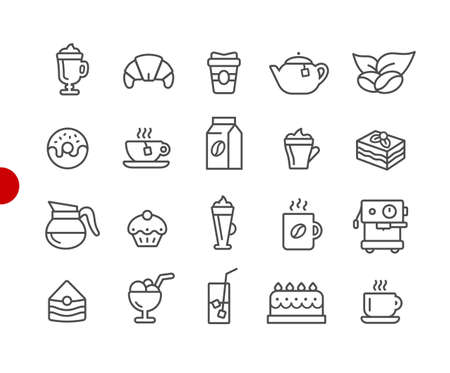 Coffee Shop Icons // Red Point Series - Vector line icons for your digital or print projects.
