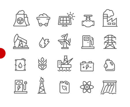Energy Icons // Red Point Series - Vector line icons for your digital or print projects.
