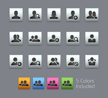 Avatar Icons // Satinbox Series - The vector file includes 5 color versions for each icon in different layers.